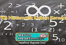 YKS Matematik Kalkan Konular