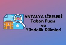 2021 Antalya Lise Taban Puanları, Antalya Lise Yüzdelik Dilimleri, Antalya Liseleri Puanları