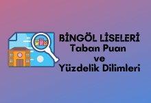 2021 Bingöl Lise Taban Puanları, Bingöl Lise Yüzdelik Dilimleri