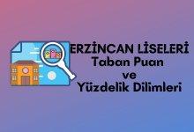 2021 Erzincan Lise Taban Puanları, Erzincan Lise Yüzdelik Dilimleri