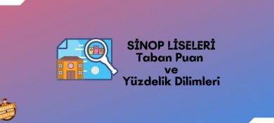 2021 Sinop Lise Taban Puanları, Sinop Lise Yüzdelik Dilimleri