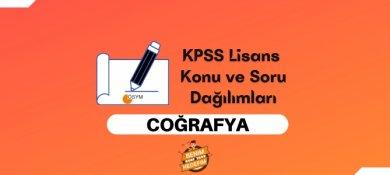 2021 KPSS Lisans Coğrafya Konuları, Lisans KPSS Coğrafya Soru Dağılımı