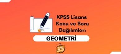 2021 KPSS Lisans Geometri Konuları, Lisans KPSS Geometri Soru Dağılımı