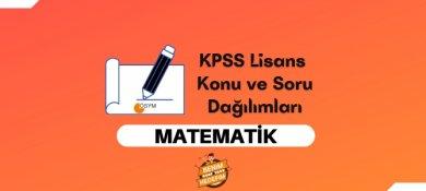 2021 KPSS Lisans Matematik Konuları, Lisans KPSS Matematik Soru Dağılımı