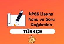2021 KPSS Lisans Türkçe Konuları, Lisans KPSS Türkçe Soru Dağılımı