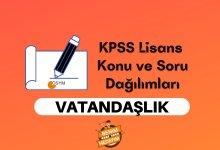 2021 KPSS Lisans Vatandaşlık Konuları, Lisans KPSS Vatandaşlık Soru Dağılımı