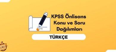 2022 KPSS Önlisans Türkçe Konuları, Önlisans KPSS Türkçe Soru Dağılımı