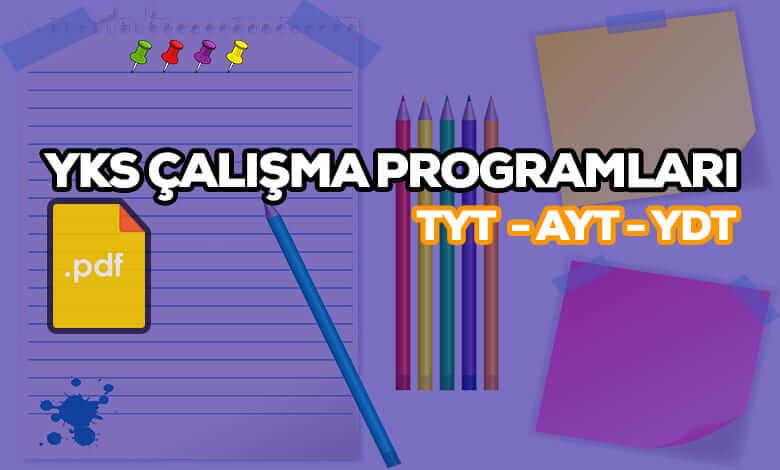 YKS Çalışma Programları