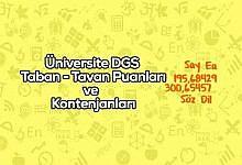 Photo of Iğdır Üniversitesi DGS Taban Puanları 2020