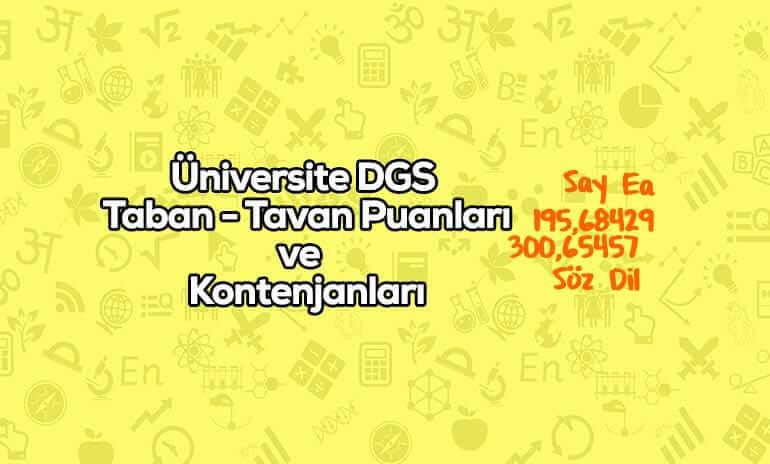 Üniversite DGS Taban Puanları
