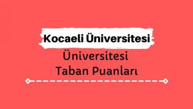 Kocaeli Üniversitesi Taban Puanları ve Başarı Sıralamaları, KOÜ Üniversitesi Puanları