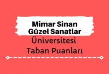 Mimar Sinan Güzel Sanatlar Üniversitesi Taban Puanları, MSGSÜ