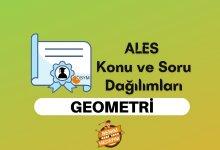 2021 ALES Geometri Konuları, ALES Geometri Soru Dağılımı
