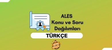 2021 ALES Türkçe Konuları, ALES Türkçe Soru Dağılımı