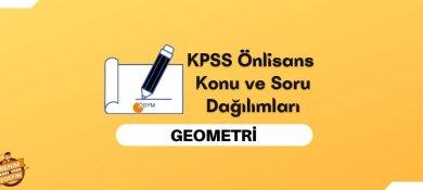 2022 KPSS Önlisans Geometri Konuları, Önlisans KPSS Geometri Soru Dağılımı