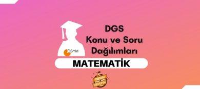 2021 DGS Matematik Konuları, DGS Matematik Soru Dağılımı