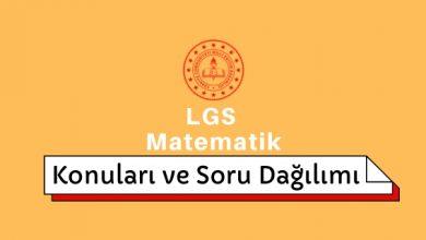 LGS Matematik Konuları ve Soru Dağılımı