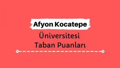 Afyon Kocatepe Üniversitesi Taban Puanları ve Sıralamaları, AKÜ Taban Puanları ve Başarı Sıralaması