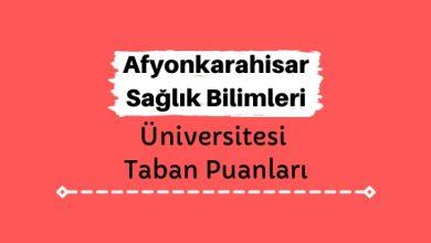 Afyonkarahisar Sağlık Bilimleri Üniversitesi Taban Puanları ve Sıralamaları, AFSÜ Taban Puanları ve Başarı Sıralaması