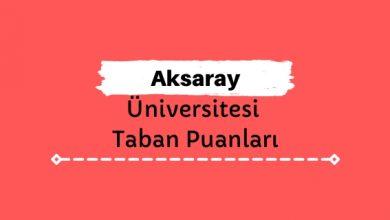 Aksaray Üniversitesi Taban Puanları ve Sıralamaları, ASÜ Taban Puanları ve Başarı Sıralaması