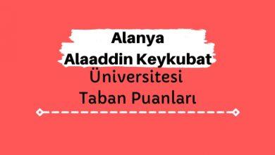 Alanya Alaaddin Keykubat Üniversitesi Taban Puanları ve Sıralamaları, ALKÜ Taban Puanları ve Başarı Sıralaması