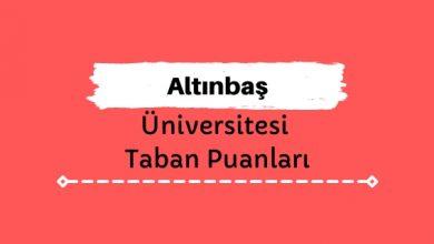 Altınbaş Üniversitesi Taban Puanları ve Sıralamaları