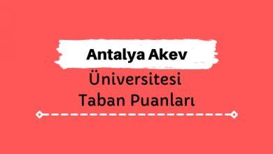 Antalya Akev Üniversitesi Taban Puanları ve Sıralamaları
