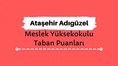 Ataşehir Adıgüzel Meslek Yüksekokulu Taban Puanları ve Sıralamaları - Ataşehir Adıgüzel MYO