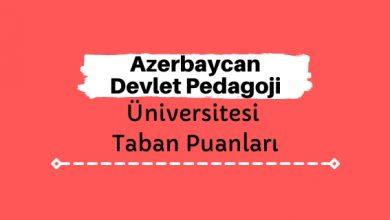 Azerbaycan Devlet Pedagoji Üniversitesi Taban Puanları ve Sıralamaları