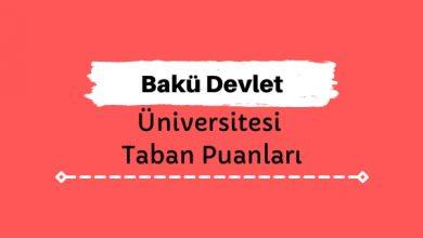 Bakü Devlet Üniversitesi Taban Puanları ve Sıralamaları