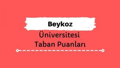 Beykoz Üniversitesi Taban Puanları ve Sıralamaları
