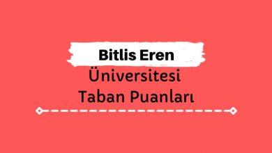 Bitlis Eren Üniversitesi Taban Puanları ve Sıralamaları, BEÜ Taban Puanları ve Başarı Sıralaması