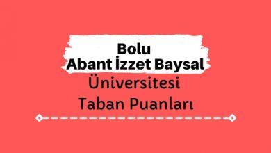 Bolu Abant İzzet Baysal Üniversitesi Taban Puanları ve Sıralamaları, AİBÜ Taban Puanları ve Başarı Sıralaması