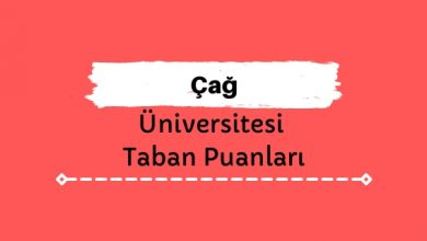 Çağ Üniversitesi Taban Puanları ve Sıralamaları