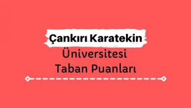 Çankırı Karatekin Üniversitesi Taban Puanları ve Sıralamaları, ÇAKÜ Taban Puanları ve Başarı Sıralaması