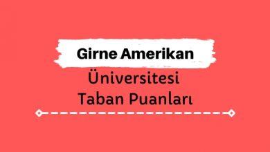 Girne Amerikan Üniversitesi Taban Puanları ve Sıralamaları - GAÜ