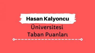Hasan Kalyoncu Üniversitesi Taban Puanları ve Sıralamaları - HKÜ