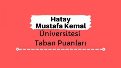 Hatay Mustafa Kemal Üniversitesi Taban Puanları ve Sıralamaları, MKÜ Taban Puanları ve Başarı Sıralaması
