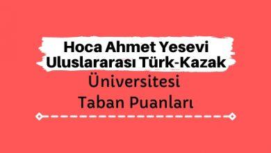 Hoca Ahmet Yesevi Uluslararası Türk-Kazak Üniversitesi Taban Puanları ve Sıralamaları