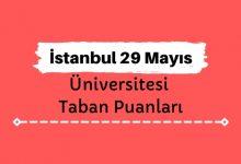 İstanbul 29 Mayıs Üniversitesi Taban Puanları ve Sıralamaları