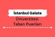 İstanbul Galata Üniversitesi Taban Puanları ve Sıralamaları
