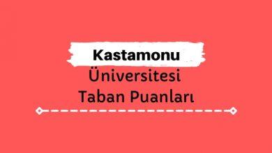 Kastamonu Üniversitesi Taban Puanları ve Sıralamaları