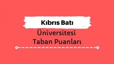 Kıbrıs Batı Üniversitesi Taban Puanları ve Sıralamaları