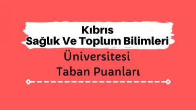 Kıbrıs Sağlık Ve Toplum Bilimleri Üniversitesi Taban Puanları ve Sıralamaları - KSTÜ