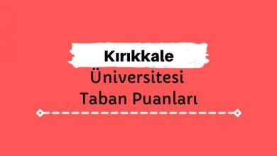 Kırıkkale Üniversitesi Taban Puanları ve Sıralamaları, KKÜ Taban Puanları ve Başarı Sıralaması