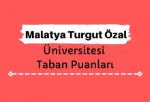 Malatya Turgut Özal Üniversitesi Taban Puanları ve Sıralamaları, MTÜ Taban Puanları ve Başarı Sıralaması