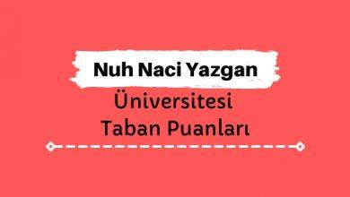 Nuh Naci Yazgan Üniversitesi Taban Puanları ve Sıralamaları - NNYÜ