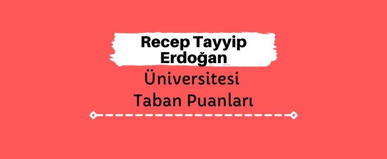 Recep Tayyip Erdoğan Üniversitesi Taban Puanları ve Sıralamaları, RTEÜ Taban Puanları ve Başarı Sıralaması