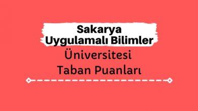 Sakarya Uygulamalı Bilimler Üniversitesi Taban Puanları ve Sıralamaları, SUBÜ Taban Puanları ve Başarı Sıralaması