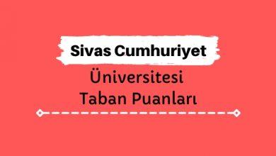 Sivas Cumhuriyet Üniversitesi Taban Puanları ve Sıralamaları